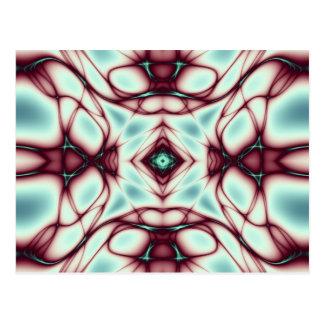 Carte Postale Le rouge tourbillonne art abstrait
