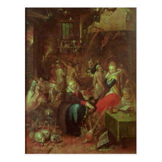 Carte Postale Le sabbat des sorcières, 1606
