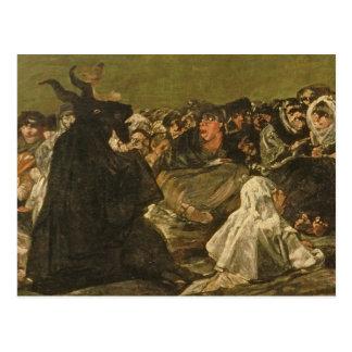 Carte Postale Le sabbat ou la grande -chèvre des sorcières