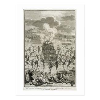 Carte Postale Le sacrifice à Quitchi-Manitou, ou le grand Spi