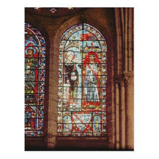 Carte Postale Le saint Denis donne l'oriflamme à clément
