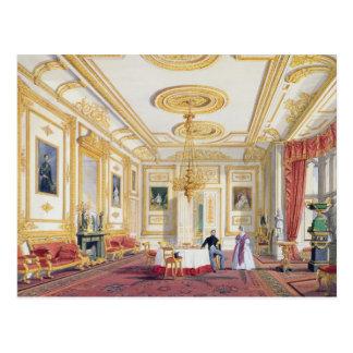 Carte Postale Le salon blanc au château de Windsor (couleur l
