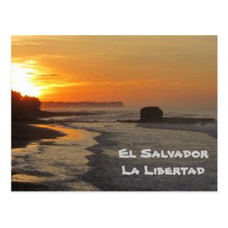 Carte Postale Le Salvador, La Libertad, lever de soleil d'EL