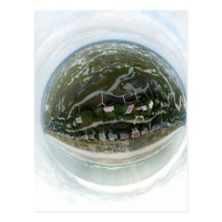Carte Postale Le schéma minuscule 8 île, la Caroline du Nord de