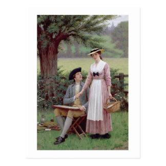 Carte Postale Le seigneur de Burleigh, Tennyson, 1919 (huile sur