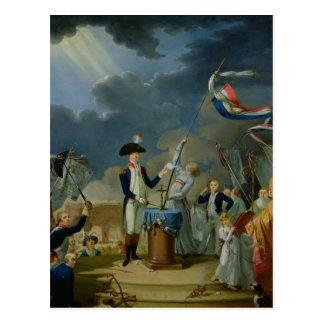 Carte Postale Le serment de Lafayette
