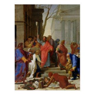 Carte Postale Le sermon de St Paul chez Ephesus, 1649