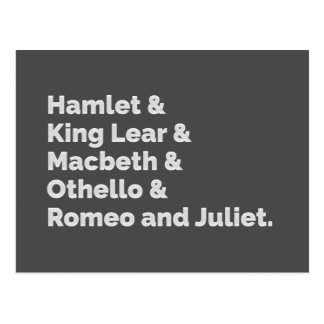 Carte Postale Le Shakespeare joue I
