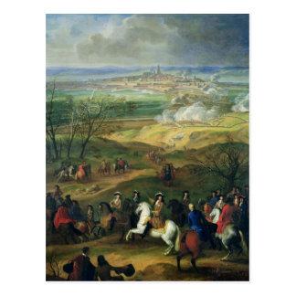 Carte Postale Le siège de Mons par Louis XIV le 9 avril 1691