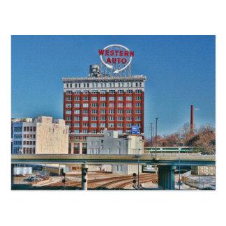 Carte Postale Le signe automatique occidental de Kansas City