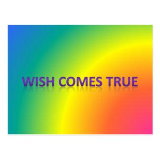 Carte Postale le souhait vient vrai