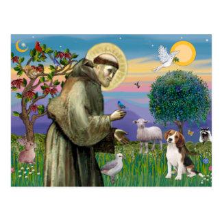 Carte Postale Le St Francis - beagle 1