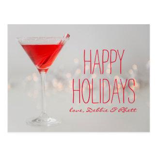 Carte Postale Le studio a tiré du cocktail rouge en verre de
