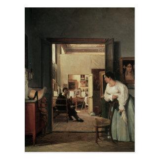 Carte Postale Le studio d'Ingres à Rome, 1818