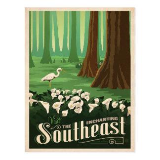 Carte Postale Le sud-est enchanteur | Etats-Unis