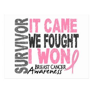 Carte Postale Le survivant de cancer du sein qu'il est venu nous