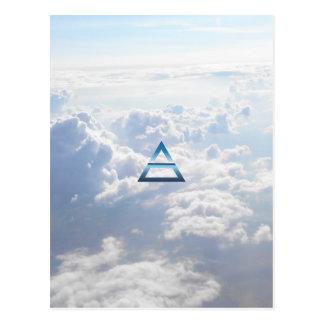 Carte Postale Le symbole d'air d'élément