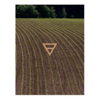 Carte Postale Le symbole de la terre d'élément