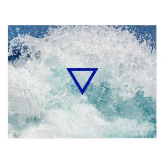 Carte Postale Le symbole de l'eau d'élément