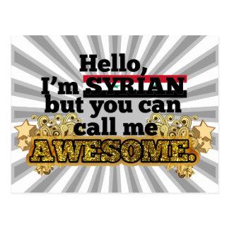 Carte Postale Le Syrien, mais m'appellent impressionnant