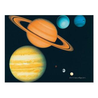 Carte Postale Le système solaire