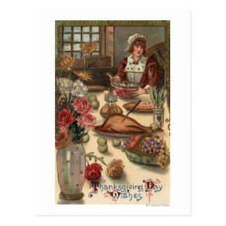 Carte Postale Le Tableau d'une femme de pèlerin