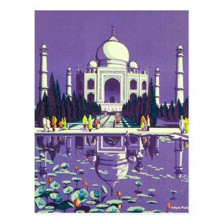 Carte Postale ~ le Taj Mahal d'Âgrâ