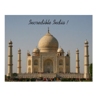Carte Postale le Taj Mahal Inde