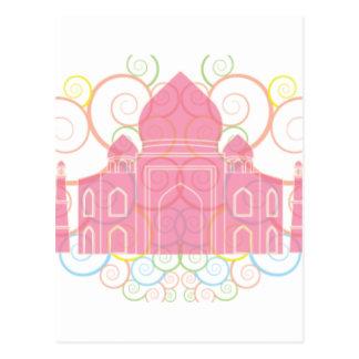 Carte Postale Le Taj Mahal rose
