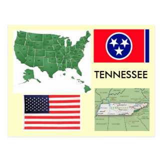 Carte Postale Le Tennessee, Etats-Unis