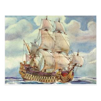 Carte Postale Le Terrible, navire de guerre de Louis XIV