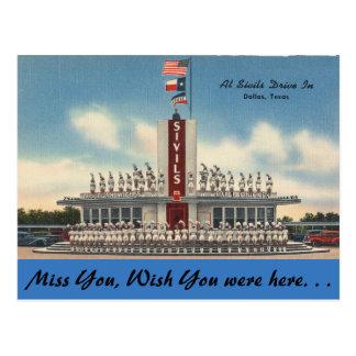 Carte Postale Le Texas, commande de Sivils dedans, Dallas