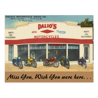 Carte Postale Le Texas, les motos de Dalio, Fort Worth