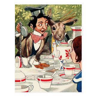 Carte Postale Le thé du chapelier fou