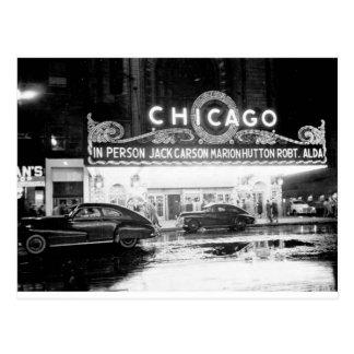 Carte Postale Le théâtre de Chicago pendant les années 1940
