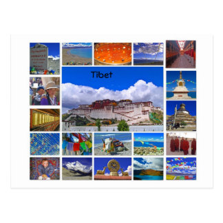 Carte Postale Le Thibet Multiview
