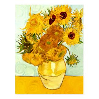 Carte Postale Le tournesol jaune de Vincent van Gogh peignant