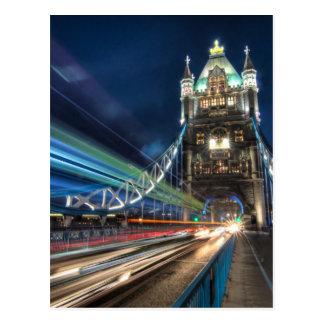 Carte Postale Le trafic de pont de tour, Londres