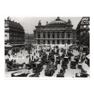 Carte Postale Le trafic devant le théatre de l'opéra de Paris