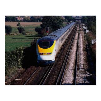 Carte Postale Le train de voyageurs d'Eurostar