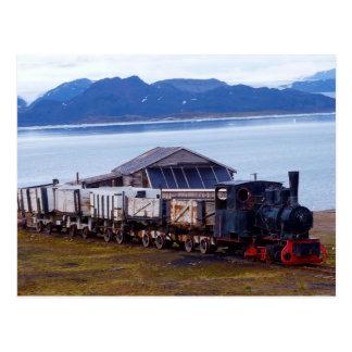 Carte Postale Le train le plus au nord du monde, le Svalbard