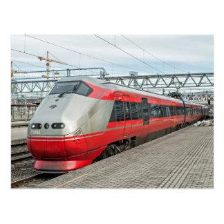 Carte Postale Le train norvégien arrive à Oslo S