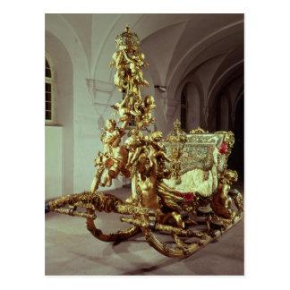 Carte Postale Le traîneau d'état de Ludwig II a construit