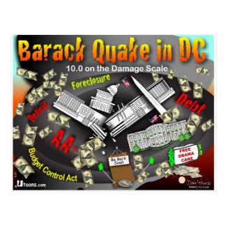 Carte Postale Le tremblement de Barack bascule le C.C
