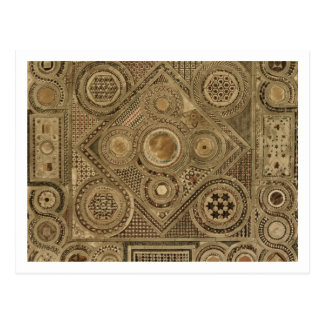 Carte Postale Le trottoir de mosaïque avant l'autel, plaquent A