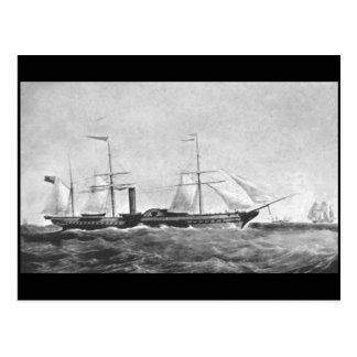 Carte Postale Le vapeur de palette, ` Britannia de RMS', 1840