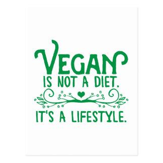Carte Postale Le végétalien n'est pas un régime