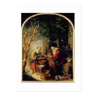 Carte Postale Le vendeur de crêpe, 1650-55 (huile sur le