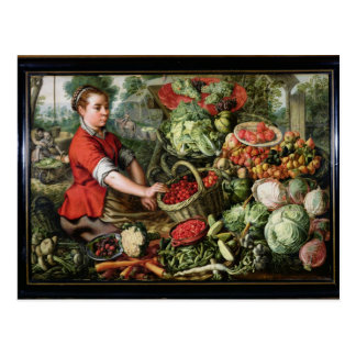 Carte Postale Le vendeur végétal