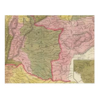 Carte Postale Le Venezuela, le nouveau Grenada et l'Equador